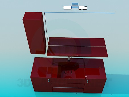 3d modeling Thumbs under the wash basin model free download