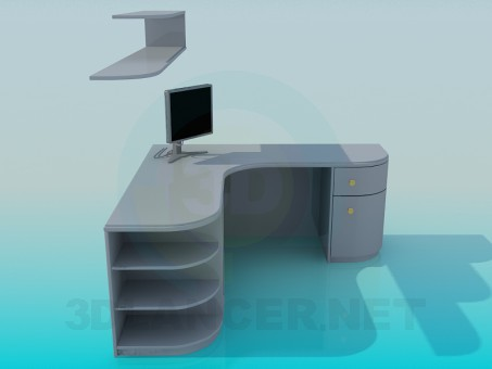 3d model Writing desk - preview