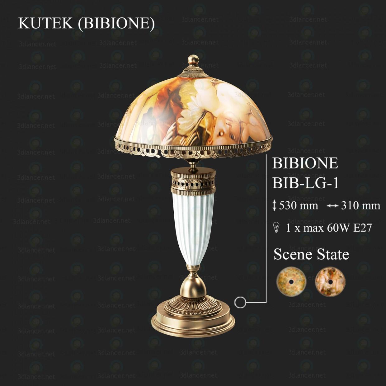 3d моделирование Настольный светильник KUTEK BIBIONE BIB-LG-1 модель скачать бесплатно