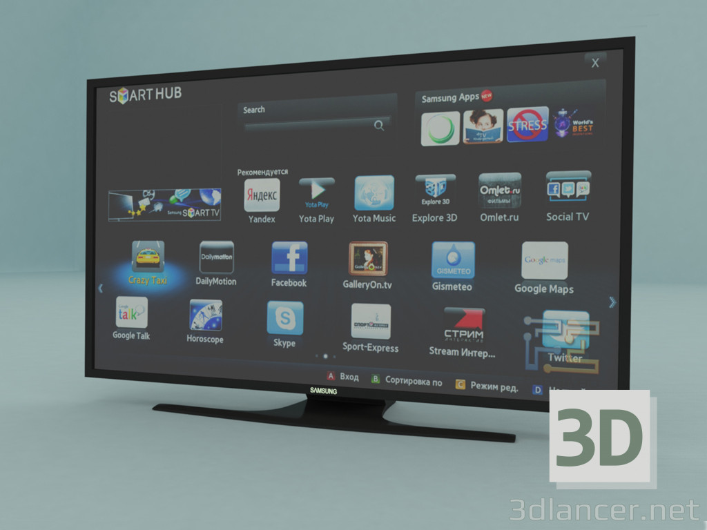 3 डी मॉडल सैमसंग टीवी - पूर्वावलोकन