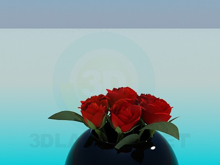 3d модель Роза – превью