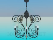 Chandelier with candelabra