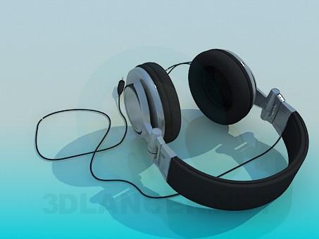 3d model Closed type headphones - preview