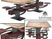 ОБІДНІЙ СТІЛ PERRIN COMMUNAL TABLE LOFT