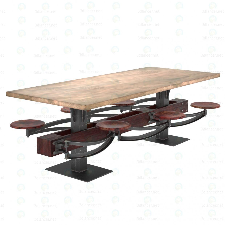 3d ОБІДНІЙ СТІЛ PERRIN COMMUNAL TABLE LOFT модель купити - зображення