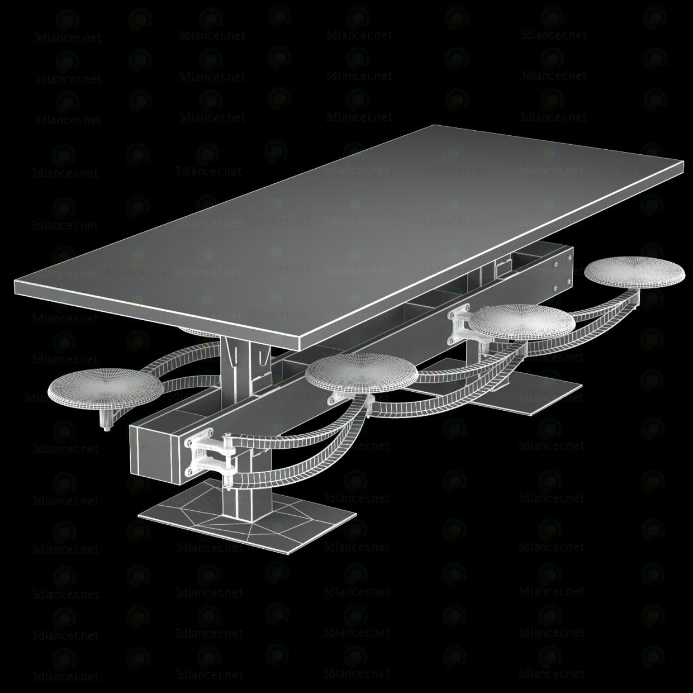 3d DINING TABLE PERRIN COMMUNAL TABLE LOFT model buy - render