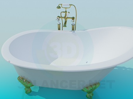 3d modeling Bath model free download