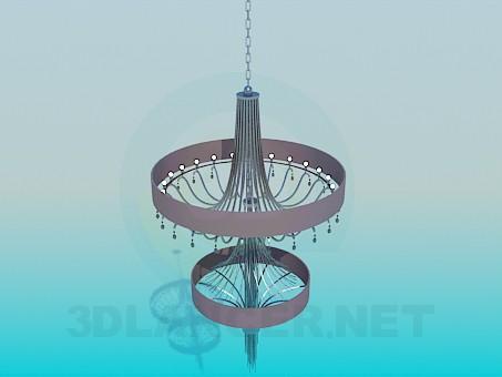 3d modeling High chandelier model free download