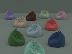 Set of ten flock chairs in bags of different colors