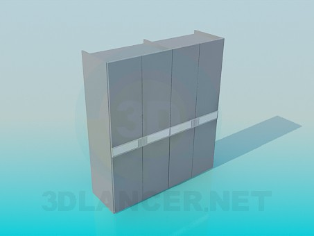 3d model Wardrobe for clothes - preview