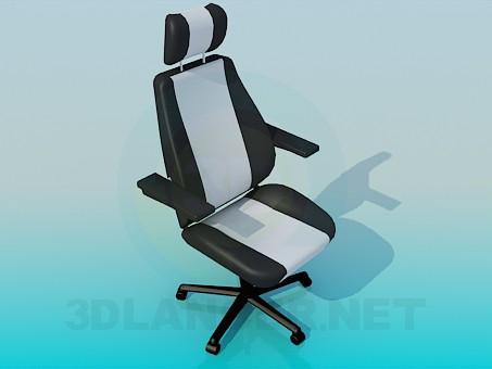 3d модель Зручне крісло офісне крісло – превью