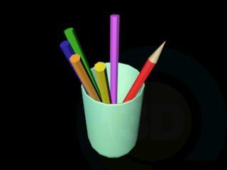 3d model Pensils - preview