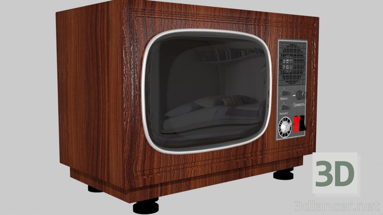 3D modeli Retro TV - önizleme