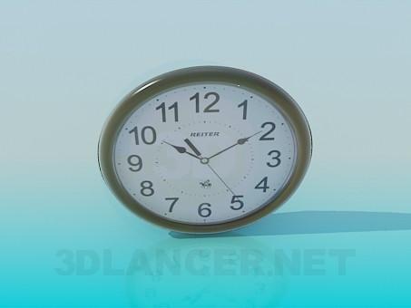 3d моделирование Часы настенные модель скачать бесплатно