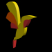 3d model Polygonal hummingbird - preview