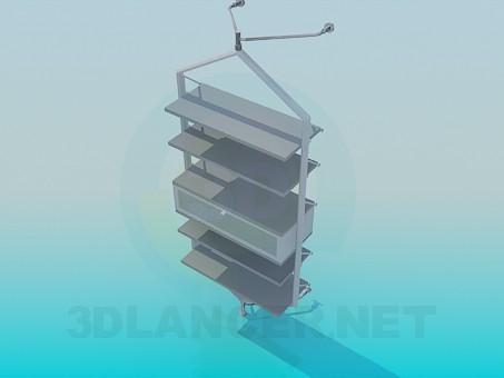 modelo 3D De pie con estantes - escuchar