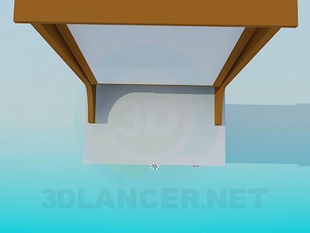 3d modeling High floor mirror in the hallway model free download