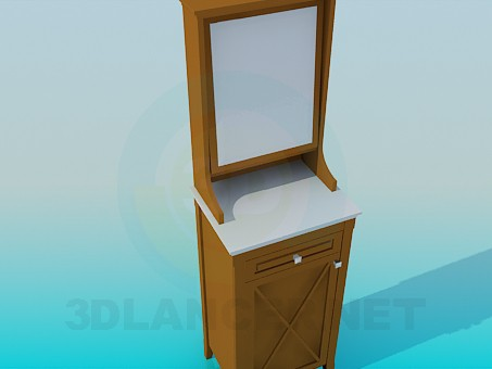 3d model High floor mirror in the hallway - preview