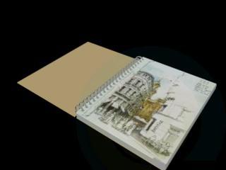 3d модель Тетрадь – превью