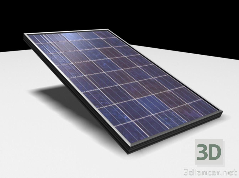 descarga gratuita de 3D modelado modelo placa solar