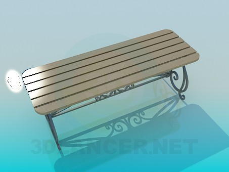 3d modeling Bench model free download