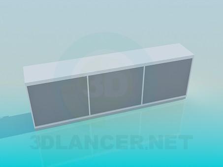 3d модель Шикарная белая тумба – превью