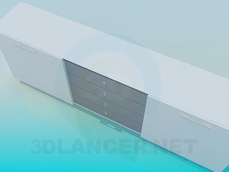 3d модель Шикарна біла тумба – превью