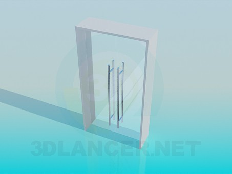 3d model Glass doors - preview