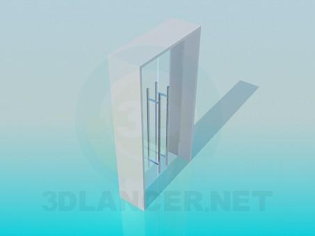 modelo 3D Puertas de cristal - escuchar