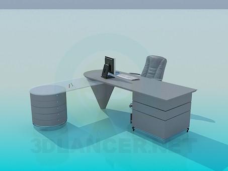 3d modeling Executive desks model free download