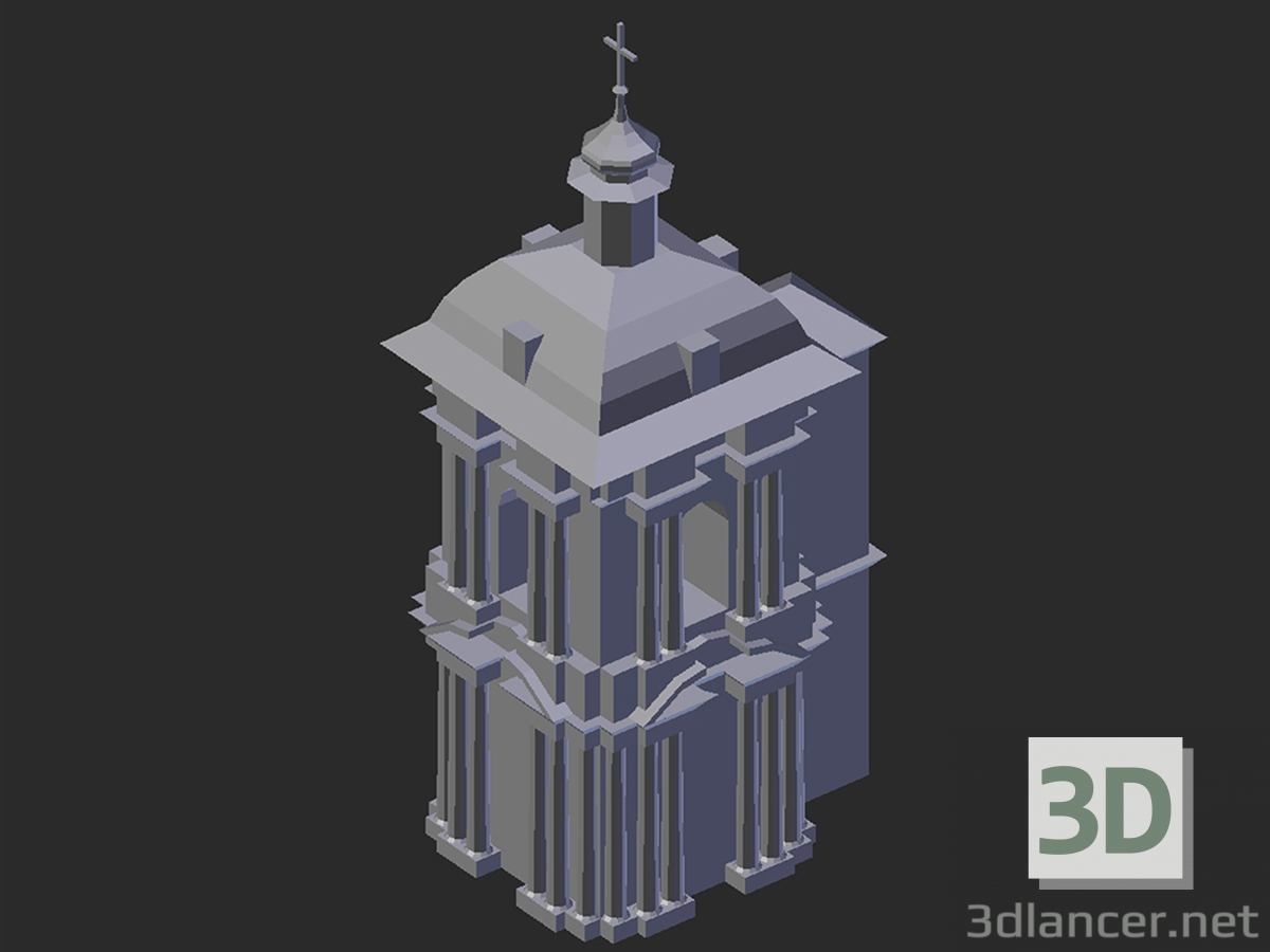 3d model Bell tower of the Assumption Cathedral - preview