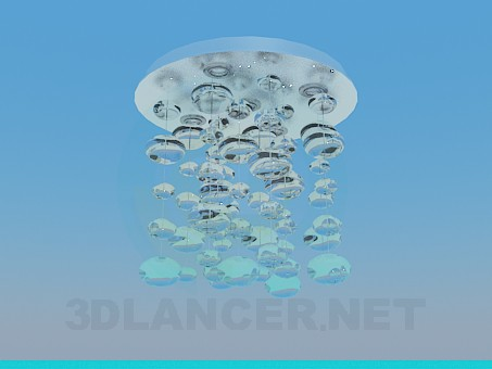 3d model Chandelier with glass balls - preview