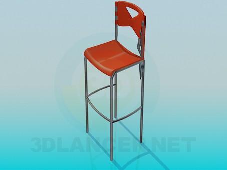 3d модель Высокий стул – превью