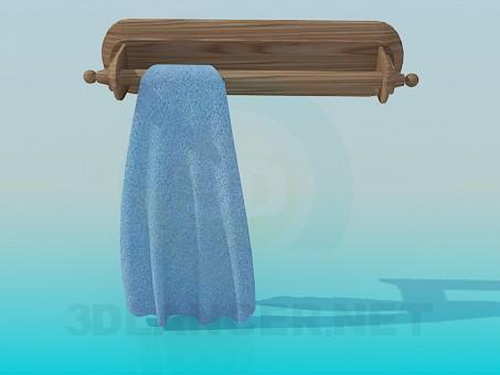 3d моделирование Деревянный держатель для полотенец модель скачать бесплатно