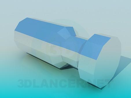 3d модель Мебельная ручка – превью