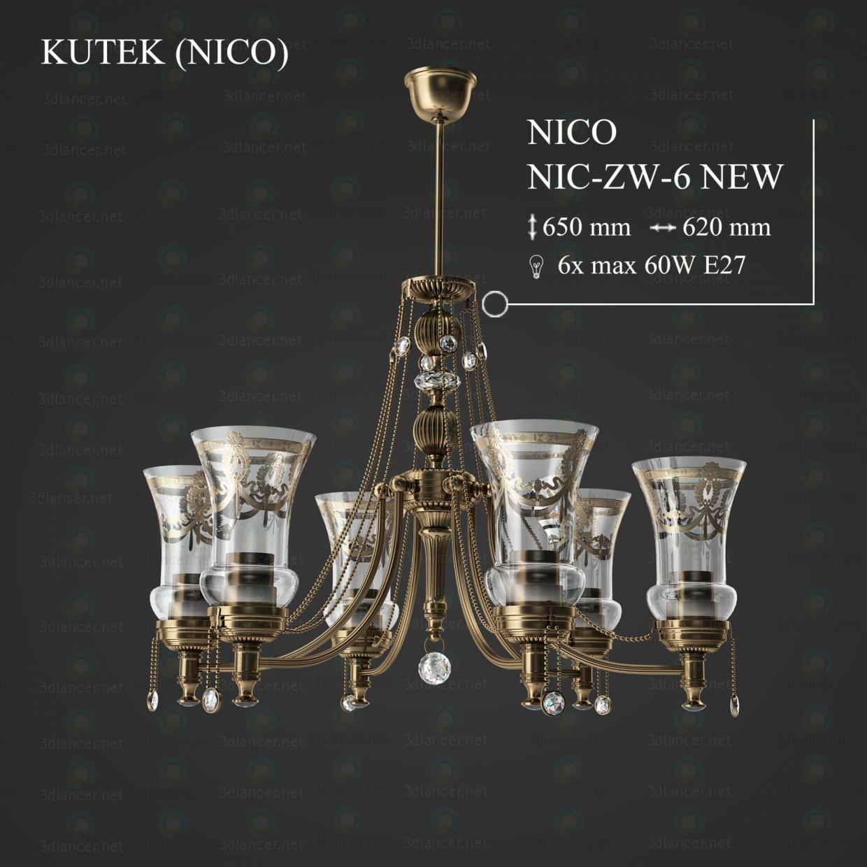 3d модель Люстра KUTEK NICO NIC-ZW-6-NEW – превью