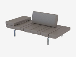 Leder modulares Sofa Doppel Smith