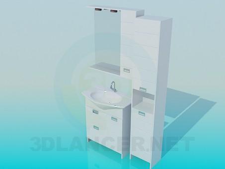 modelo 3D Los muebles en el baño - escuchar