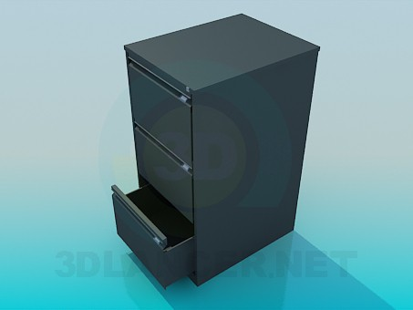 3d modeling Cabinet for documents in the office model free download