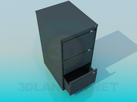 3d model Cabinet for documents in the office - preview