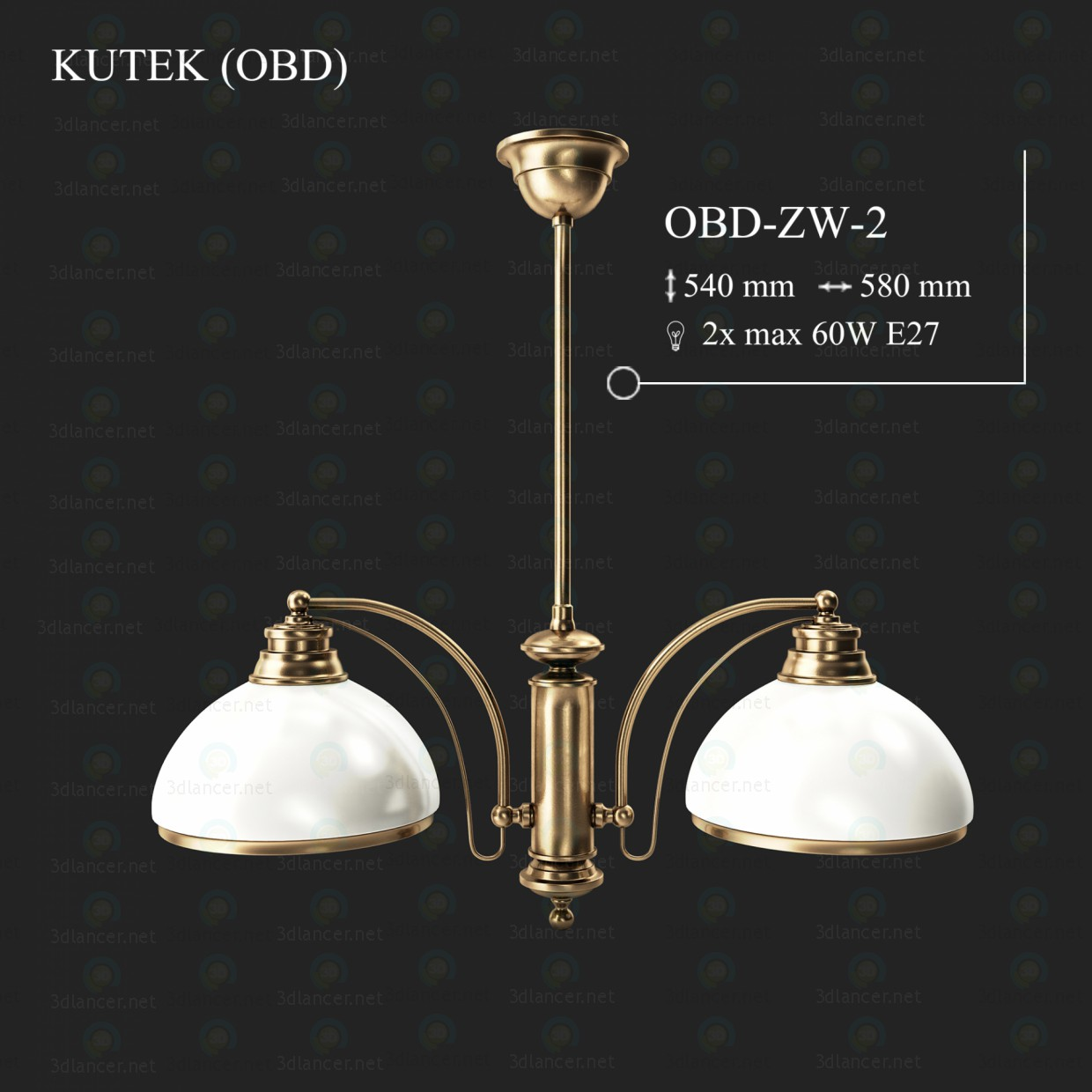 3d model Chandelier KUTEK OBD OBD-ZW-2 - preview