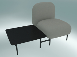 Isole modular seat system (NN1, high-backed seat with square table on the right)