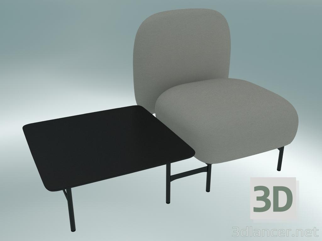 3 डी मॉडल Isole मॉड्यूलर सीट सिस्टम (NN1, दाईं ओर वर्ग तालिका के साथ उच्च समर्थित सीट) - पूर्वावलोकन