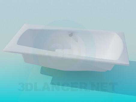 3d модель Завужені ванна – превью