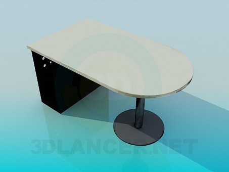 3d model Computer desk in the office - preview