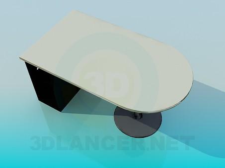 3d модель Стіл для комп'ютера в офіс – превью