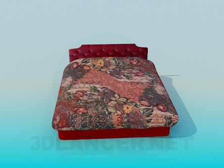 3d modeling Bed with storage capacity model free download