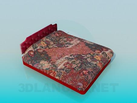3d модель Кровать с емкостью для хранения вещей – превью