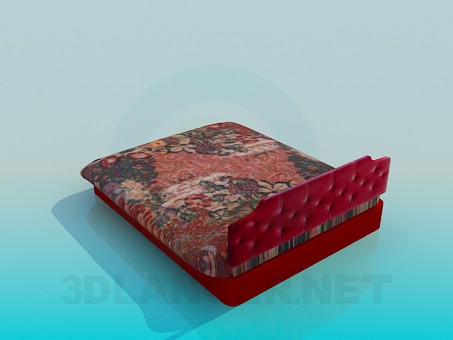 3d model Bed with storage capacity - preview