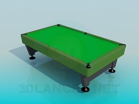 descarga gratuita de 3D modelado modelo mesa de billar